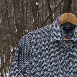 🆕 Patterned button-down shirt - 100% Cotton